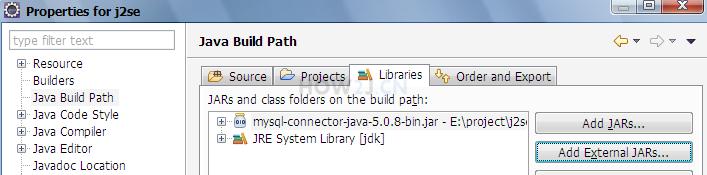 为项目导入mysql-jdbc的jar包
