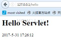 重启tomcat,访问http://127.0.0.1/hello