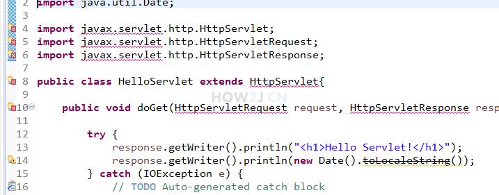 解决HttpServlet找不到问题